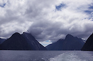 Glacier made mountains at Milford Sound, New Zealand. Photograph by Dennis Brack