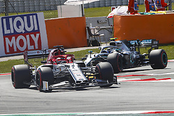 May 11, 2019 - Barcelona, Catalonia, Spain - Alfa Romeo Racing Ferrari driver Kimi Rikknen (7) of Finland and Mercedes driver Valtteri Bottas (77) of Finland during F1 Grand Prix qualifying celebrated at Circuit of Barcelona 11th May 2019 in Barcelona, Spain. (Credit Image: © Mikel Trigueros/NurPhoto via ZUMA Press)