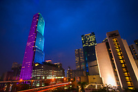 Miami Tower in Pink & Sky Blue
