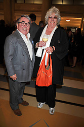 RONNIE CORBETT and his wife ANNE at the opeing of Green's Restaurant & Oyster Bar, 14 Cornhill, London EC3 on 1st September 2009.