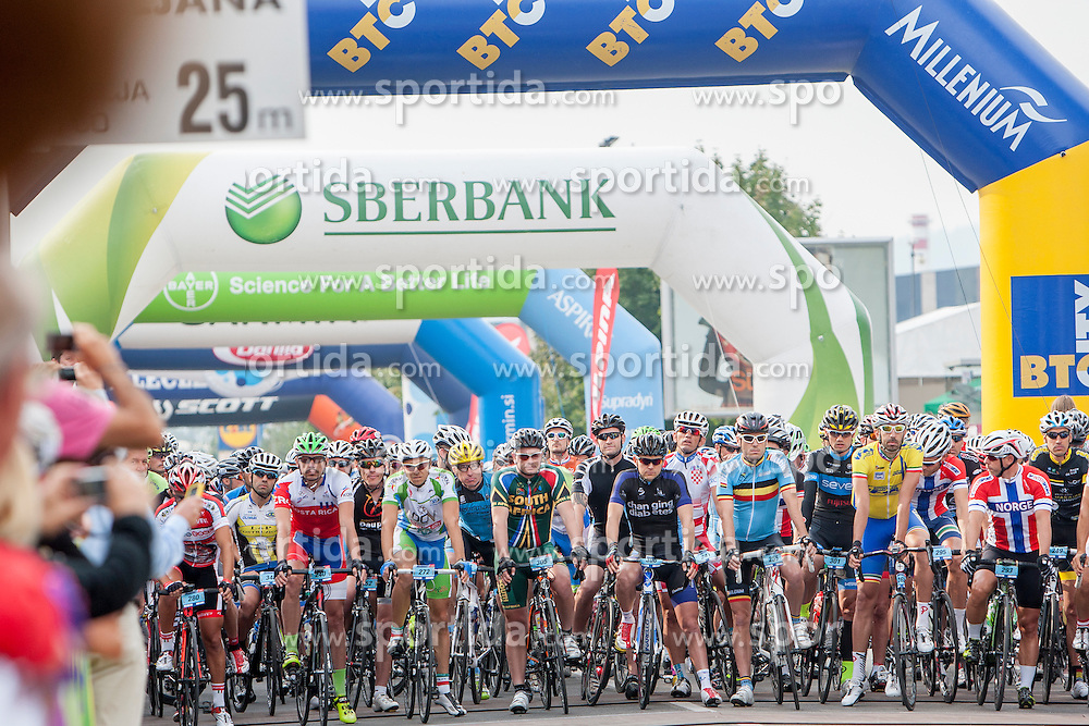 Cyclists during UCI amateur Road World Championship 2014 on August 31, 2014 in BTC City, Ljubljana, Slovenia. Photo by Urban Urbanc / Sportida.com