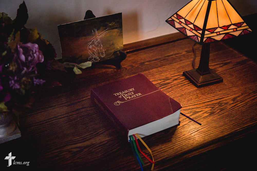 Treasury of Daily Prayer by Concordia Publishing House in the office of the Rev. Douglas Spittel, senior pastor at First Trinity Evangelical–Lutheran Church, on Sunday, Nov. 20, 2016, at the church in Pittsburgh. LCMS Communications/Erik M. Lunsford