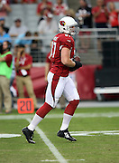 Arizona Cardinals tight end Troy Niklas (87) catches a pre game pass before the 2014 NFL preseason football game against the Houston Texans on Saturday, Aug. 9, 2014 in Glendale, Ariz. The Cardinals won the game in a 32-0 shutout. ©Paul Anthony Spinelli
