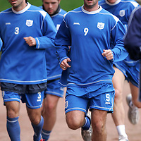 St Johnstone Training...07.11.06<br />Peter MacDonald and Goran Stanic jogging in training this morning before facing Rangers in tomorrow nights CIS Cup quarter final at Ibrox.<br />see story by Gordon Bannerman Tel: 01738 553978 or 07729 865788<br />Picture by Graeme Hart.<br />Copyright Perthshire Picture Agency<br />Tel: 01738 623350  Mobile: 07990 594431