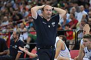Taranto 04-06-2011<br /> Qualifying Tournament Eurobasket Women 2011<br /> Italia-Spagna<br /> Nella foto Stefano Sacripanti<br /> Foto di Ciamillo-Castoria