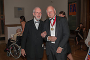 JOE TILSON; PAUL HUXLEY, Royal Academy of Arts Annual dinner. Piccadilly. London. 29 May 2012.