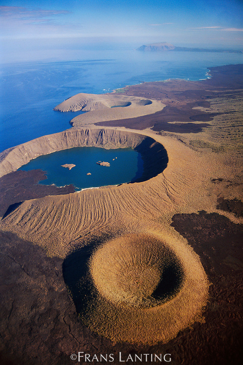 Volcanic craters (aerial), Isabela Island, Galapagos Islands