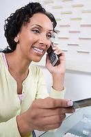Woman Making an Online Transaction