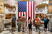 """An American flag on display in the """"Venitian"""" hotel and casino in Las Vegas."""