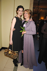 Left to right, ERIN O'CONNOR and EMMA THOMPSON at the 10th Anniversary Party of the Lavender Trust, Breast Cancer charity held at Claridge's, Brook Street, London on 1st May 2008.<br />