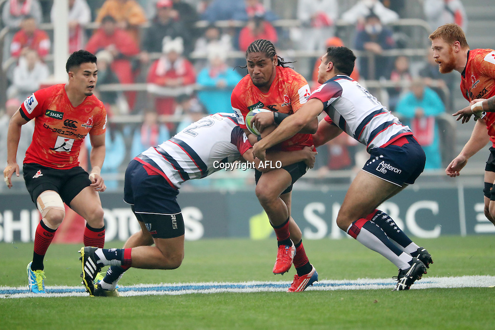 Mifiposeti Paea (Sunwolves),<br /> MARCH 19, 2016 - Rugby : Super Rugby match between Sunwolves 9-35 Melbourne Rebels at Prince Chichibu Memorial Stadium in Tokyo, Japan. (Photo by AFLO)