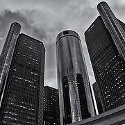 &quot;The Renaissance Center&quot; B&amp;W<br />