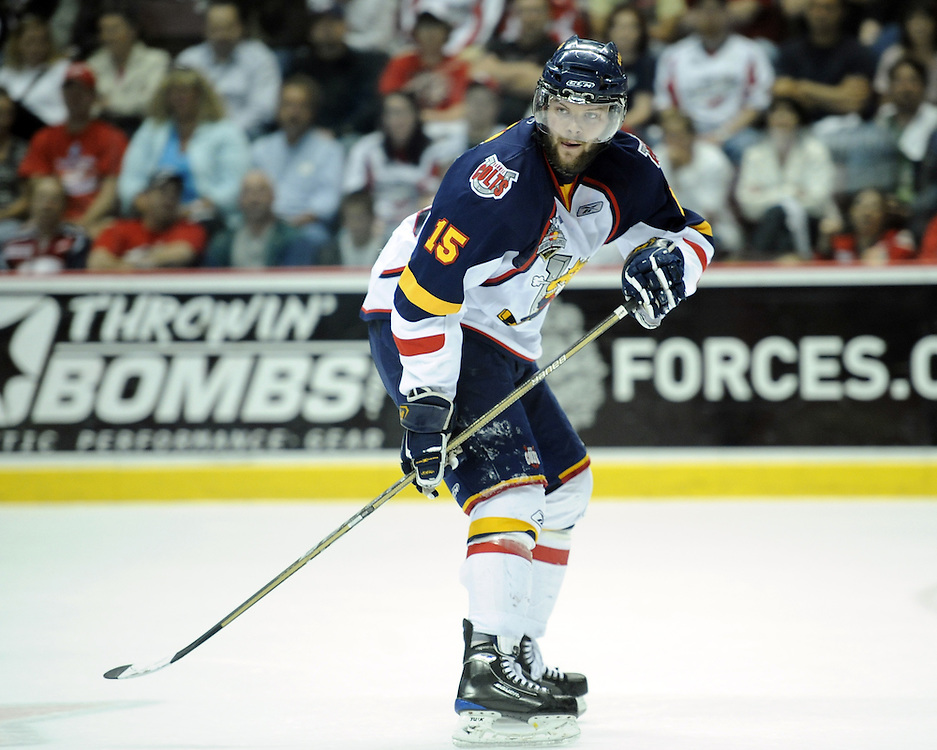 Matt Kennedy of the Barrie Colts inGame 4 of the 2010 Rogers OHL Championship Series in Windsor on Tuesday May 4. Photo by Aaron Bell/OHL Images