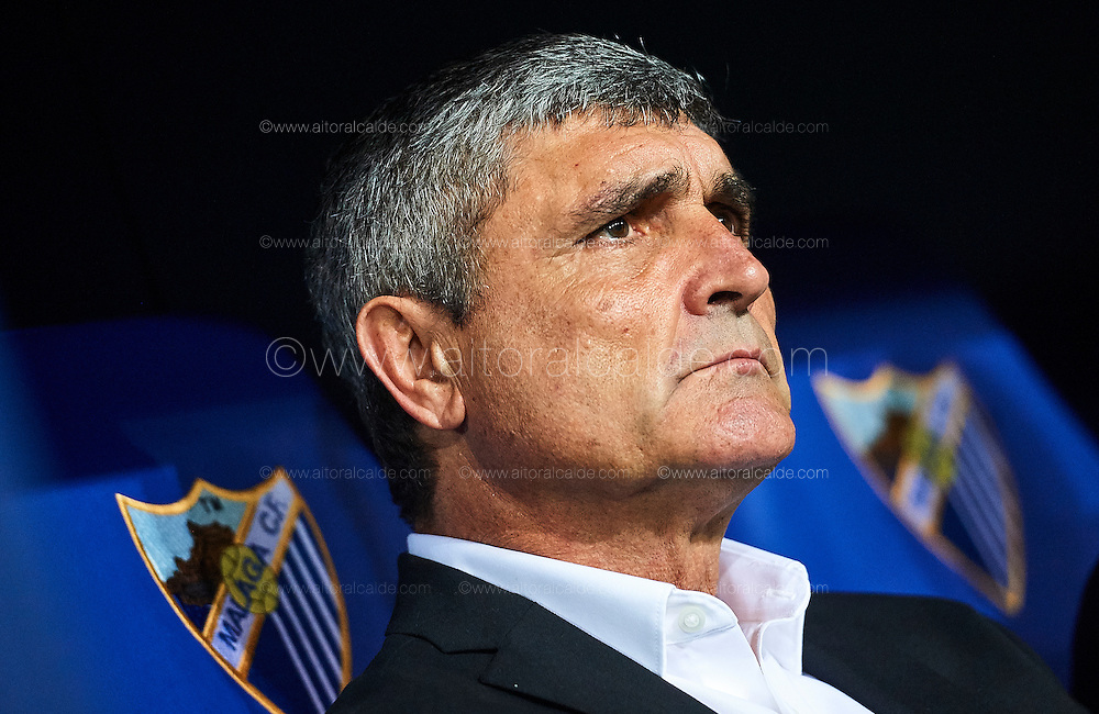 MALAGA, SPAIN - DECEMBER 09:  Head Coach of Malaga CF Juande Ramos looks on during La Liga match between Malaga CF and Granada CF at La Rosaleda Stadium December 9, 2016 in Malaga, Spain.  (Photo by Aitor Alcalde Colomer/Getty Images)