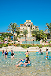 Aquaventure water park at the Atlantis Hotel on The Palm island in Dubai United Arab Emirates