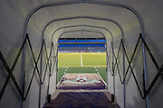 View down the players tunnel during the Sky Bet League 2 match between Northampton Town and AFC Wimbledon at Sixfields Stadium, Northampton, England on 1 March 2016. Photo by Dennis Goodwin.