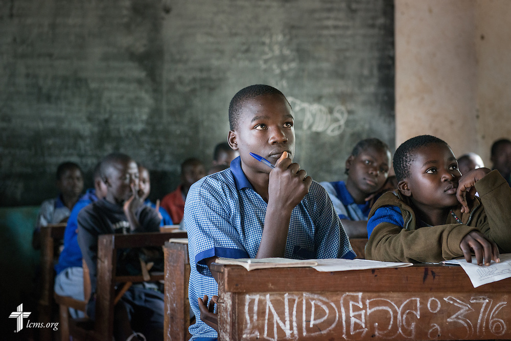 Students take class Wednesday, June 11, 2014, at the Luanda Doho Primary School in Kakmega County, Kenya. LCMS Communications/Erik M. Lunsford
