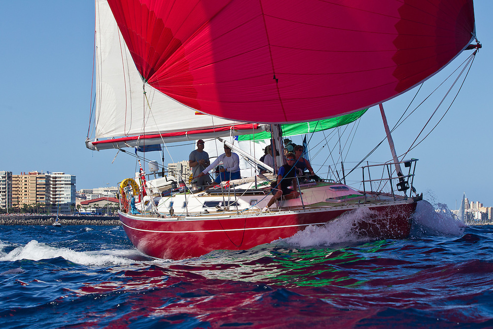 SPAIN, Gran Canaria, Las Palmas. 20th November 2011. ARC Start. Scarlet Oyster.
