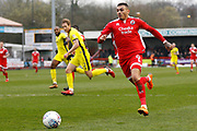 Crawley Town forward Karlan Ahearne-Grant during the EFL Sky Bet League 2 match between Crawley Town and Cheltenham Town at the Checkatrade.com Stadium, Crawley, England on 24 March 2018. Picture by Andy Walter.