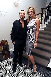 JULIEN MACDONALD and MELISSA ODABASH at Vogue's Celebation of Fashion dinner held at The Albermarle, Brown's Hotel, Albermarle Street, London on 18th September 2008.