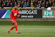 Jobi McAnuff of Leyton Orient (7) takes a free-kick during the Vanarama National League match between Harrogate Town and Leyton Orient at Wetherby Road, Harrogate, United Kingdom on 22 September 2018.