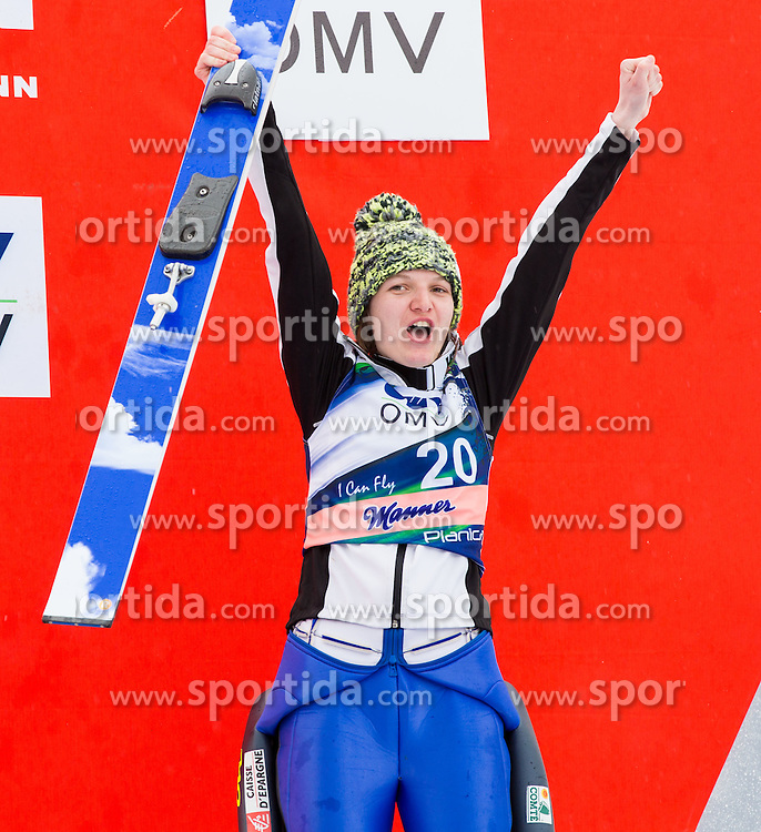 Third placed CLAIR Julia of France celebrates at trophy ceremony after the Ladies Large Hill Individual Competition at 3rd day of FIS Ski Jumping World Cup Finals Planica 2014, on March 22, 2014 in Planica, Slovenia. Photo by Vid Ponikvar / Sportida