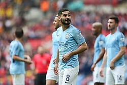 Ilkay Gundogan of Manchester City looks towards the big screen - Mandatory by-line: Arron Gent/JMP - 18/05/2019 - FOOTBALL - Wembley Stadium - London, England - Manchester City v Watford - Emirates FA Cup Final