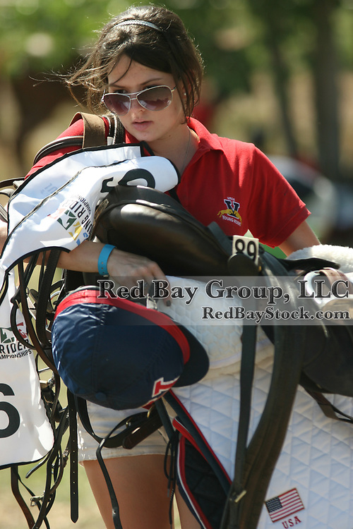 Grooming at the North American Young Riders Championship