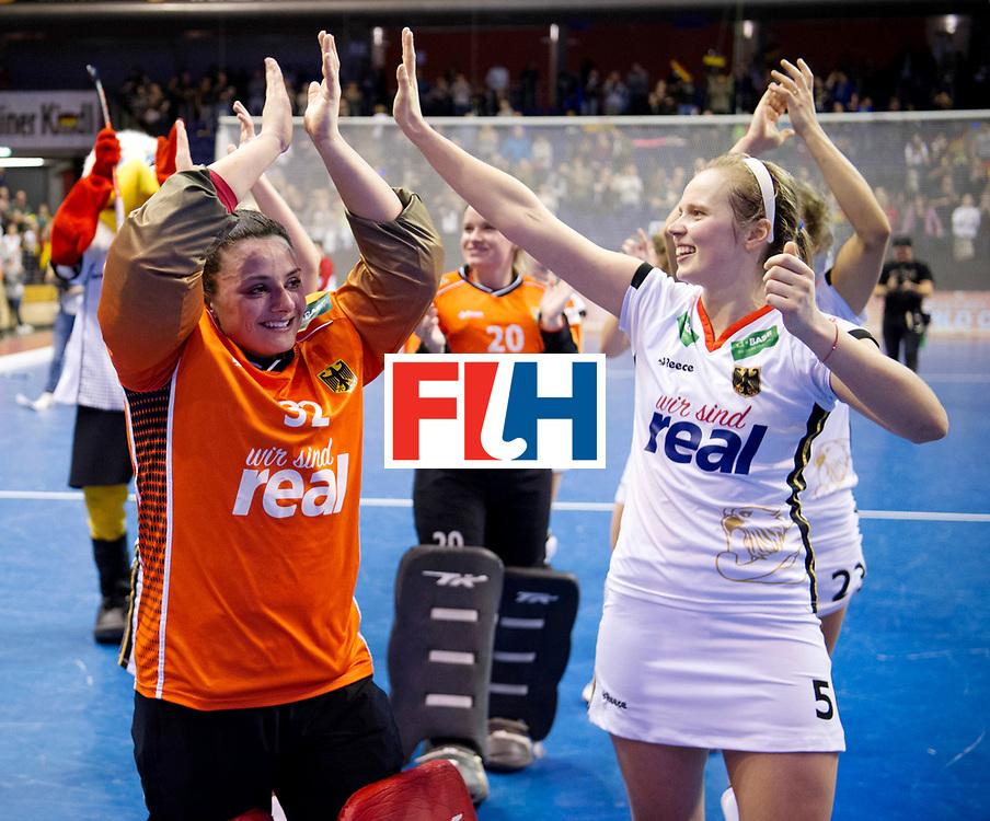 BERLIN - Indoor Hockey World Cup<br /> Semi-final: Belarus - Germany<br /> foto: Rosa Krueger and Viktoria Huse.<br /> WORLDSPORTPICS COPYRIGHT FRANK UIJLENBROEK