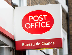 File photo dated 03/12/16 of a Post Office sign. Minimum wage jobs are being advertised at Crown Post Offices as postal workers are facing redundancy, ministers have been told.