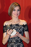 032714 Prince Felipe and Princess Letizia at the Delivery of National Young Entrepreneur Award