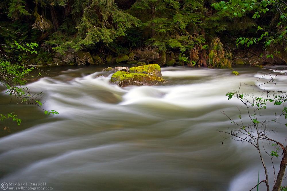 Spring runoff in Silverhope Creek near Hope, British Columbia, Canada