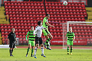 Forest Green Rovers Omar Bugiel(11) heads the ball forward during the Vanarama National League match between Gateshead and Forest Green Rovers at Gateshead International Stadium, Gateshead, United Kingdom on 18 February 2017. Photo by Shane Healey.