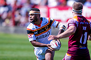Bradford Bulls Colton Roche (11) looks to pass the ball during the Kingstone Press Championship match between Batley Bulldogs and Bradford Bulls at the Fox's Biscuits Stadium, Batley, United Kingdom on 16 July 2017. Photo by Simon Davies.