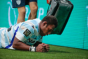 Leone Nakarawa (Racing 92) on the floor after been hurted during the French championship Top 14 Rugby Union match between Racing 92 and SU Agen on September 8, 2018 at U Arena in Nanterre, France - Photo Stephane Allaman / ProSportsImages / DPPI