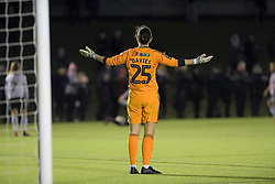 February 20, 2019 - Sheffield, United Kingdom - Sheffield United's goalkeeper Nikki Davies signals to her defence during the  FA Women's Championship football match between Sheffield United Women and Manchester United Women at the Olympic Legacy Stadium, on February 20th Sheffield, England. (Credit Image: © Action Foto Sport/NurPhoto via ZUMA Press)