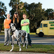 Arielle Metzger and her family in Sanford, Florida.