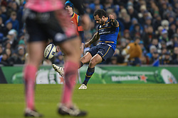 December 16, 2017 - Dublin, Ireland - Isa Nacewa of Leinster team kicking the penalty during Leinster vs Exeter Chiefs - the  European Rugby Champions Cup rugby match at Aviva Stadium...On Saturday, 16 December 2017, in Dublin, Ireland. (Credit Image: © Artur Widak/NurPhoto via ZUMA Press)
