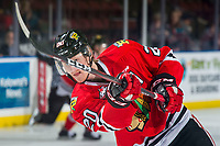 KELOWNA, BC - MARCH 02:  Joachim Blichfeld #20 of the Portland Winterhawks warms up on the ice against the Kelowna Rockets at Prospera Place on March 2, 2019 in Kelowna, Canada. (Photo by Marissa Baecker/Getty Images)