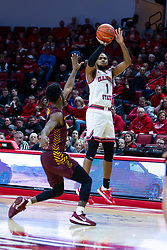 NORMAL, IL - January 19: Dedric Boyd shoots for 3 points during a college basketball game between the ISU Redbirds and the Loyola University Chicago Ramblers on January 19 2020 at Redbird Arena in Normal, IL. (Photo by Alan Look)