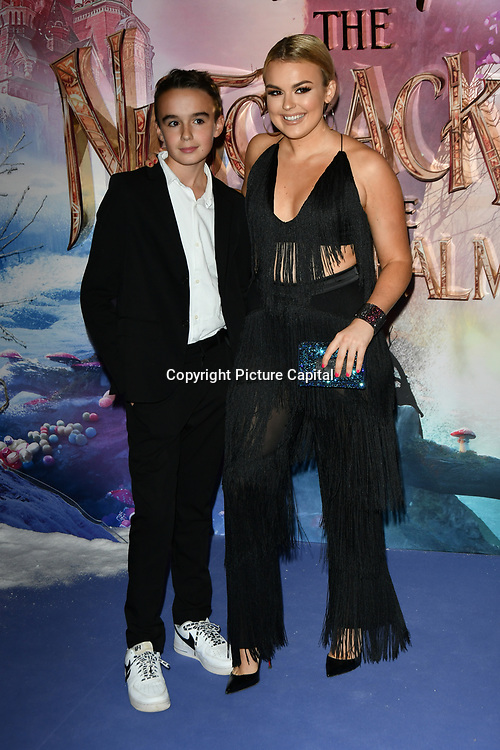Tallia Storm (R) and Johnnie Hartmann attend The Nutcracker and the Four Realms - UK premiere at Vue Westfield, Westfield Shopping Centre, Ariel Way on 1st Nov 2018, London, UK.