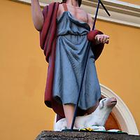 Central America, Nicaragua, San Juan del Sur. Jesus statue in San Juan Bautista Church.