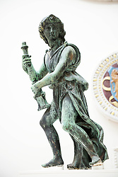 Image ©Licensed to i-Images Picture Agency. 10/07/2014. London, United Kingdom. The V&A is temporarily exhibiting the Angels created by Florentine sculptor Benedetto da Rovezzano between 1524 and 1529 for fundraising, Victoria & Albert Museum. Picture by i-Images