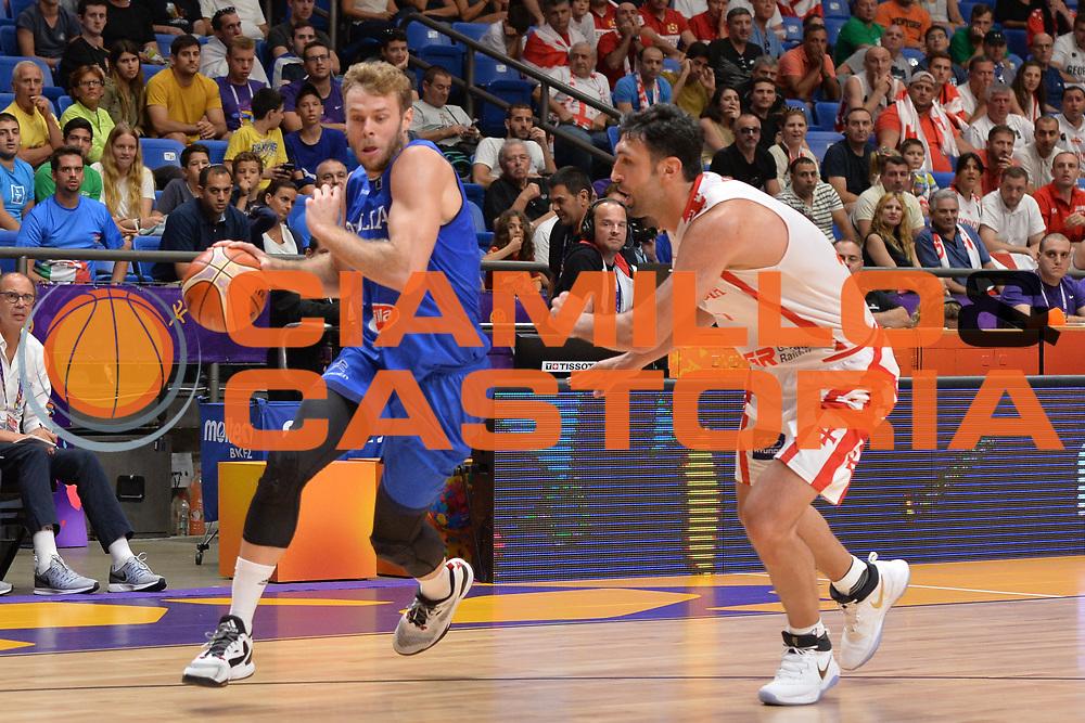 Niccolo Melli<br /> Nazionale Italiana Maschile Senior<br /> Eurobasket 2017 - Group Phase<br /> Georgia - Italia<br /> FIP 2017<br /> Tel Aviv, 02/09/2017<br /> Foto Ciamillo - Castoria/ M.Longo