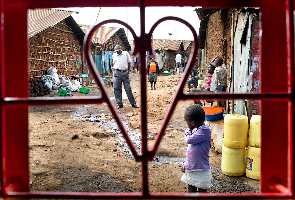 Kibera, the largest slum in Africa.