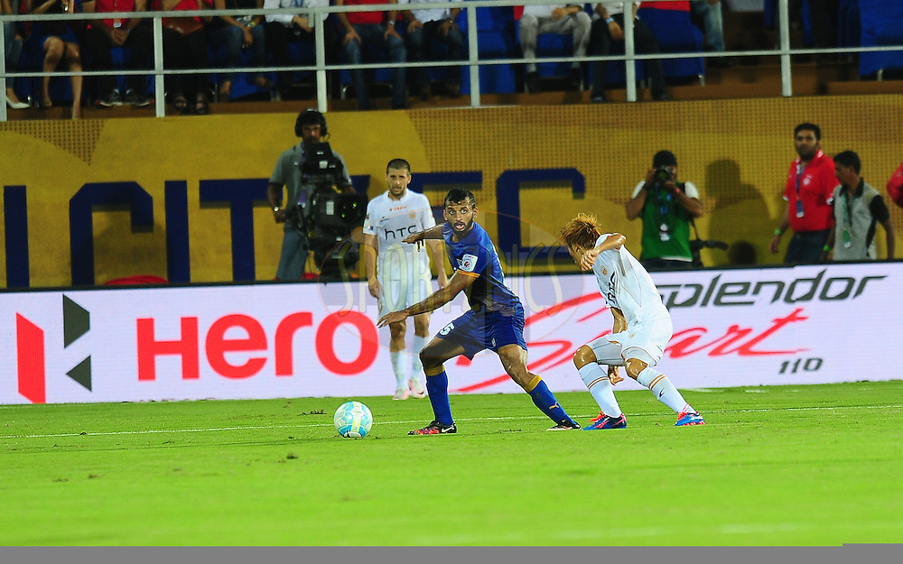 Hero branding during match 7 of the Indian Super League (ISL) season 3 between Mumbai City FC and NorthEast United FC held at the Mumbai Football Arena in Mumbai, India on the 7th October 2016.<br /> <br /> Photo by Faheem Hussain / ISL/ SPORTZPICS