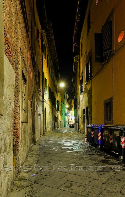 Italy, Tuscany, Pisa at night
