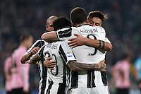 17.02.2017 - Torino - Serie A 2016/17 - 25a giornata  -  Juventus-Palermo nella  foto: L'esultanza dei giocatori della Juventus dopo il gol del 3 a 0
