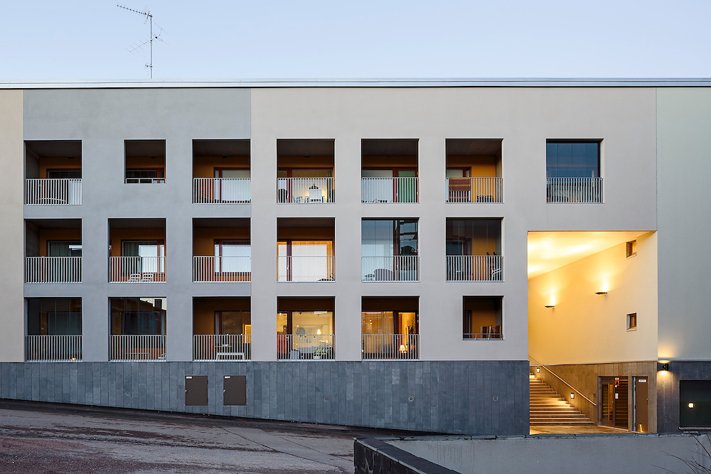 Viikinmäki housing in Helsinki, Finland designed by Verstas architects.
