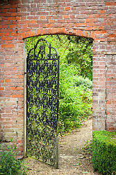 Gate into walled garden at Glemham House